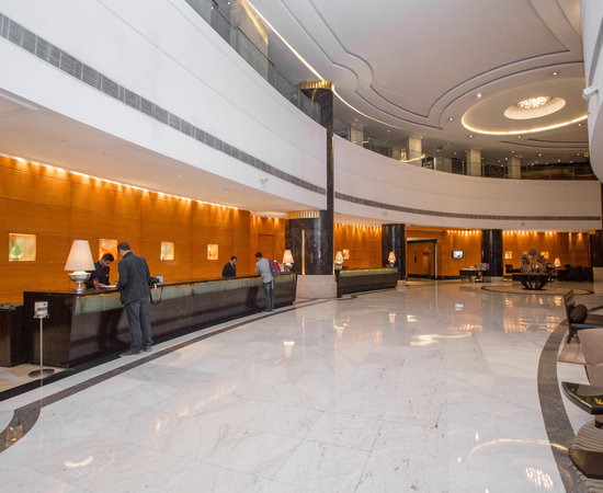 Lobby at the Radisson Blu Plaza Delhi