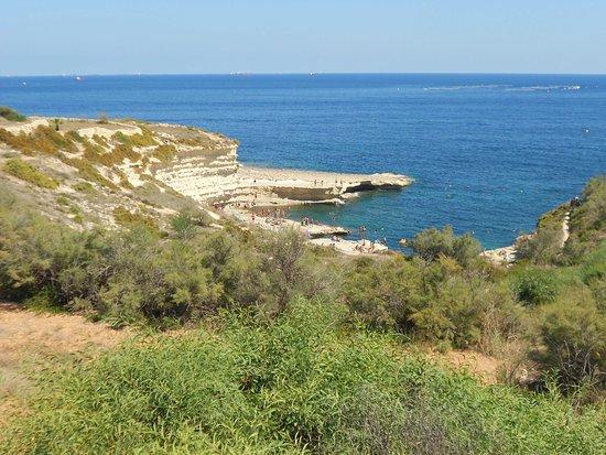 Marsaxlokk, Malta: vista dall'alto di St.Peter's Pool