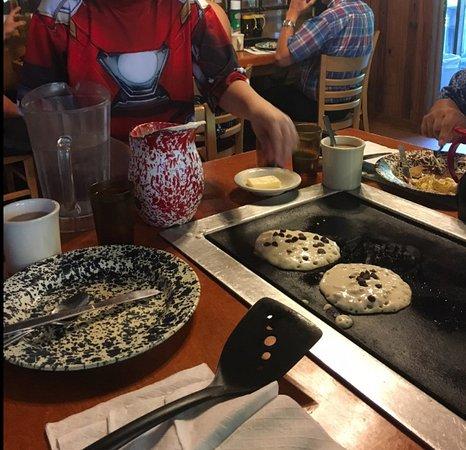De Leon Springs, ฟลอริด้า: Choc. Chip Pancakes