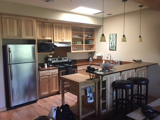 Twisp, WA: Kitchen area with all utensils