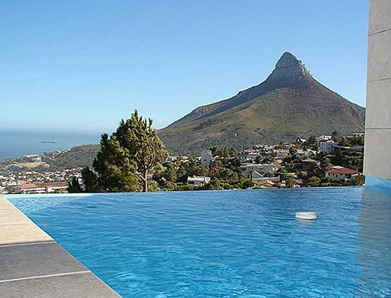 camps bay villa penthouse pool