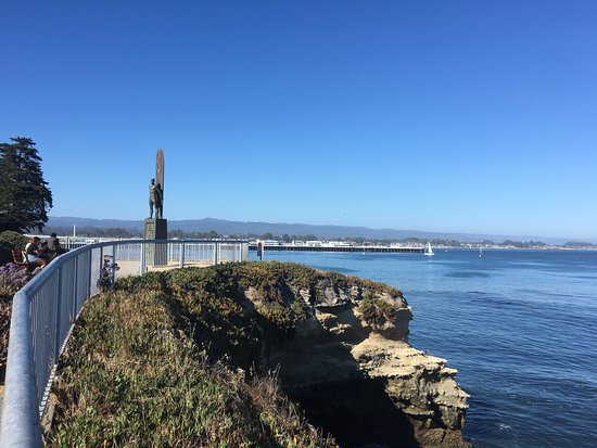 To Honor Surfing Monument: West Cliff Walk