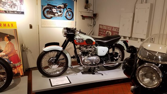 Hickory Corners, MI: Just one of the bikes in the motorcycle exhibit
