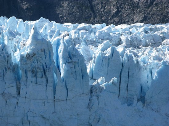 Glacier Bay National Park and Preserve, AK: First siting of a glacier at Glacier Bay aboard the Holland AM.