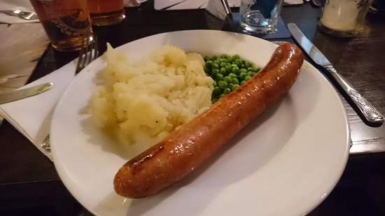 Pandy, UK: Welsh Dragon sausage