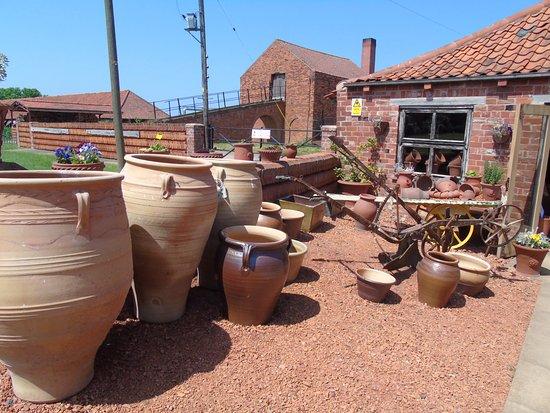 Barton-upon-Humber, UK: Pots and pots and pots.