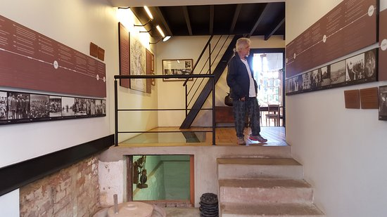 Satyagraha House: Steps to upper house(Gandhi's room) and lower house (Kallenbach's room)