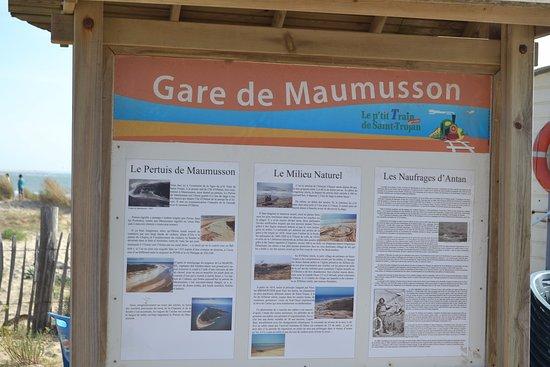 Saint-Trojan-les-Bains, Francia: Un des arrêts du p'tit Train : la Gare de Maumusson