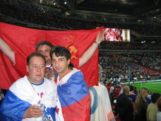 Wembley, UK: На стадионе