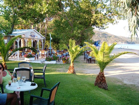 The Magnolia Resort: Cozy restaurant on beach dining
