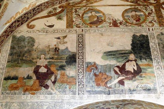Roslev, Danmark: Skive, fresco in Grinderslev Kirke