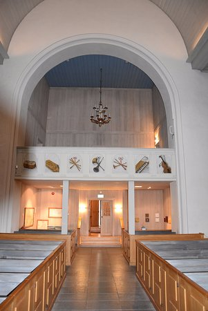 Vrigstad, Sweden: Internal view looking back from the altar