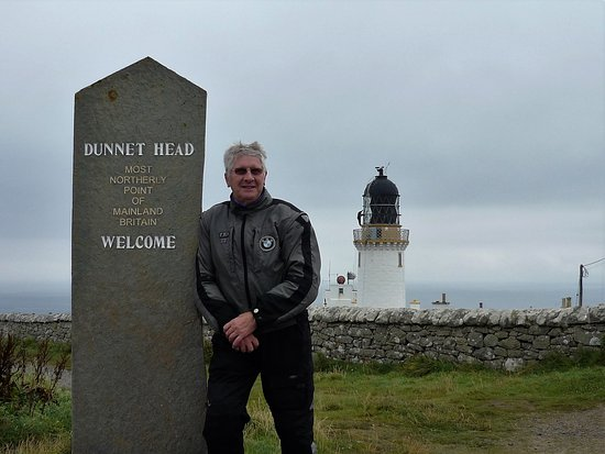 Thurso, UK: A little damp and windy for a biker but worth the visit .