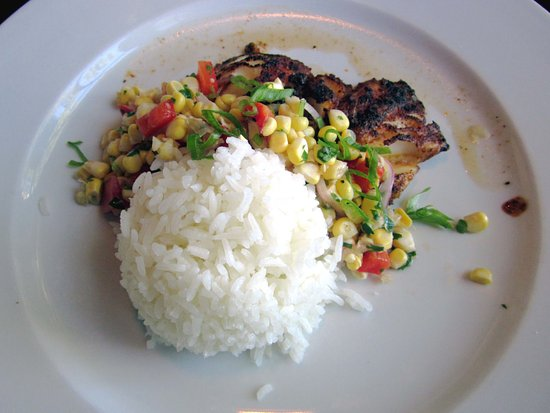 Yardley, PA: Blackened Cod with Corn Salsa & Rice