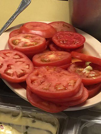 Pete's Place: Hey lady! Nice tomatoes!