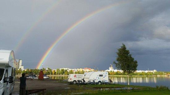 Pitea, Suecia: Arc en ciel spectaculaire !