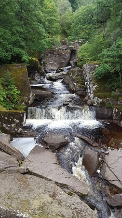 Callander, UK: View of the Falls off the bridge.