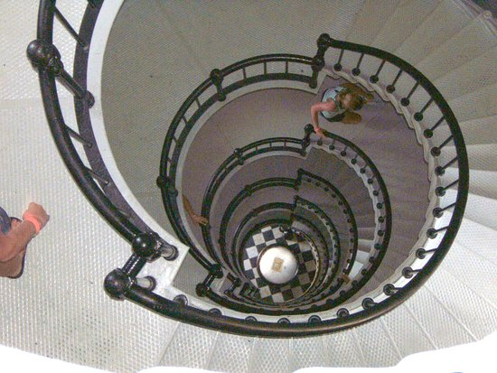 Ponce de Leon Lighthouse: The Staircase going up