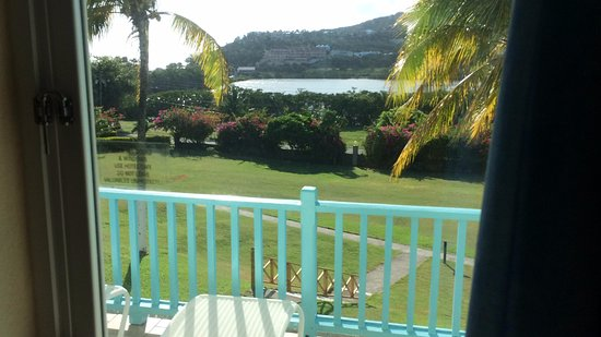 Frigate Bay, Saint Kitts: Over the lake/sea from the balcony