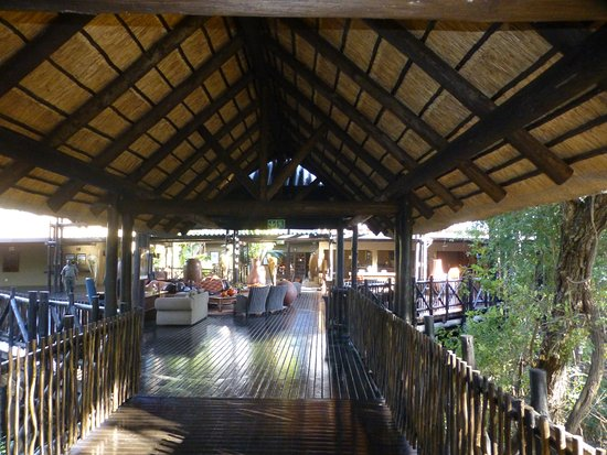Skukuza, Sudafrica: uitzicht op de receptie