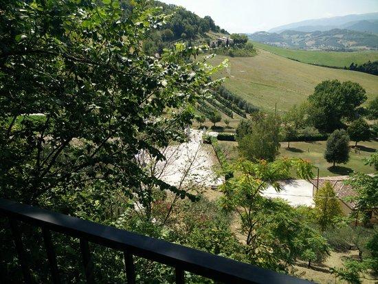 Nocera Umbra, Italia: Vista dal ristorante
