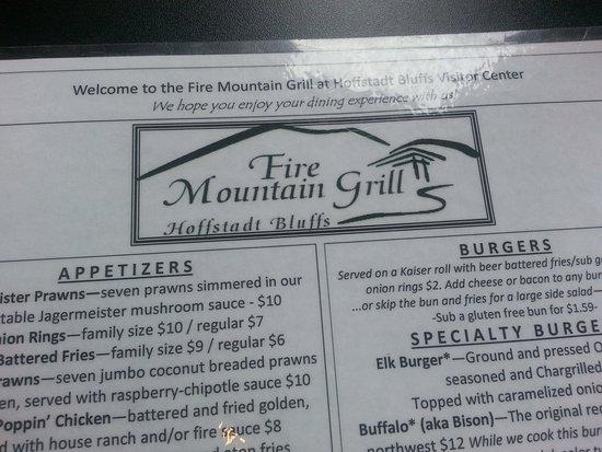 Toutle, WA: Fire Mountain Grill Menu