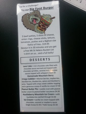 Toutle, WA: Bigfoot Burger