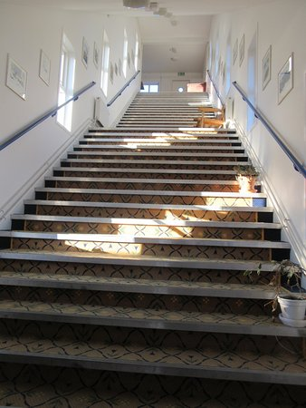Angmagssalik Hotel: Steep staircase to navigate to rooms