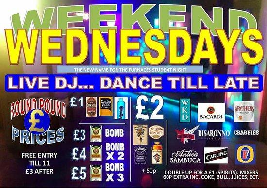 Madeley, UK: Clubbing nights... wednesday fridays and saturdays Karaoke on Sundays. Open till late most night