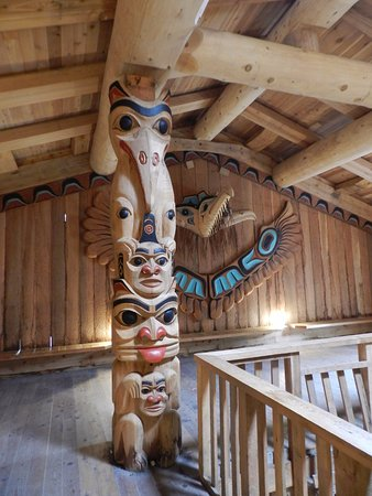 Potlatch Totem Park: Inside the Large House