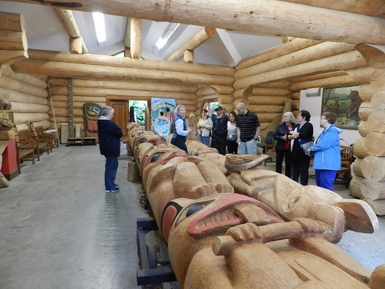 Potlatch Totem Park: Totem Pole Carving Shop