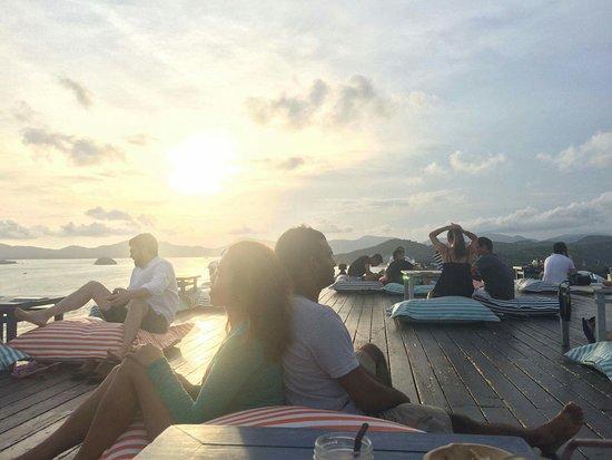 Cape Panwa, Thailand: Very nice sunset.