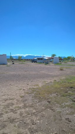 Toyahvale, TX: Camp area facing mountains in the distance, pretty view