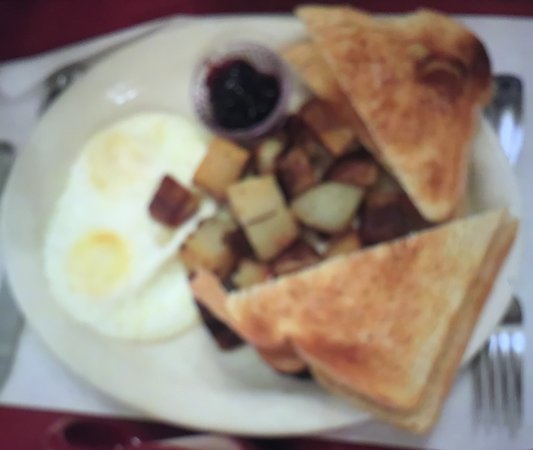Prospect, Όρεγκον: Eggs, Potatoes and toast with jam