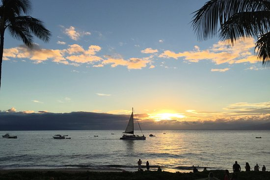 Aston at The Whaler on Kaanapali Beach: Sunset From the Shore