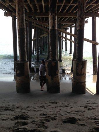San Clemente Pier: Low tide walk under the pier