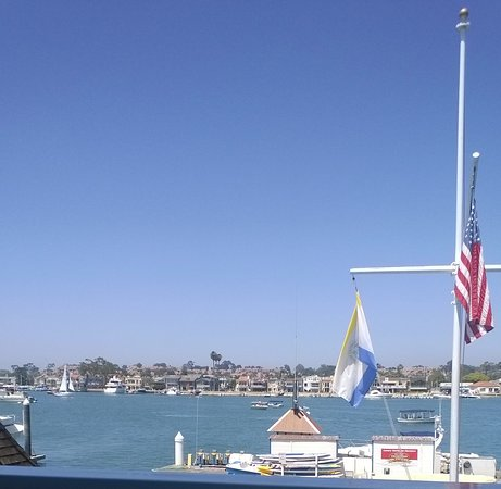 Balboa Island View From Newport Landing Restaurant In Fun Zone