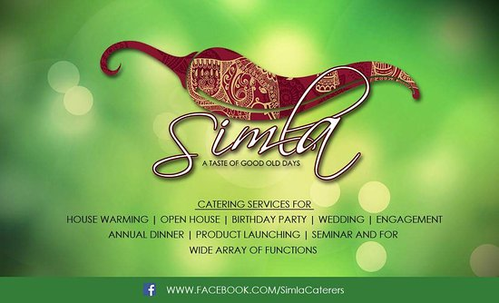 Simla Curry Leaf Restaurant: Catering Business Card