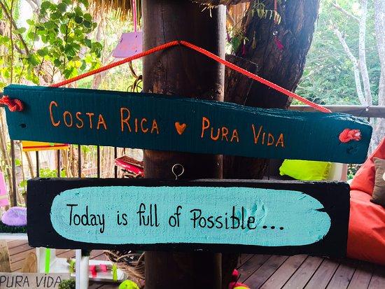 Brasilito, Costa Rica: Corresponde al area de estar, alli se sirve el desayuno.