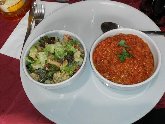 Poppi, Italy: panzanella toscana e pappa al pomodoro