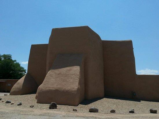 Back of the San Francisco de Assisi Mission Church in Ranchos de Taos, Nm