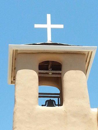 Bell tower, San Francisco de Assisi Mission Church in Ranchos de Taos, NM
