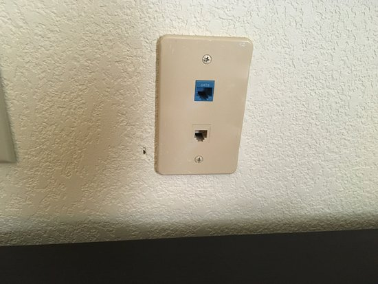 Ethernet Jack on wall, but dead when plugged in - Picture of Hampton ...