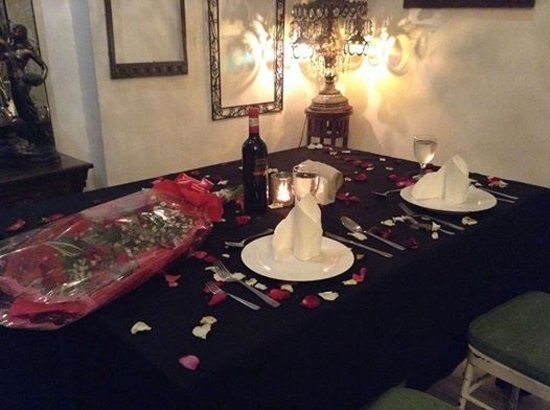 This Is The Setup For Our 8th Wedding Anniversary Dinner