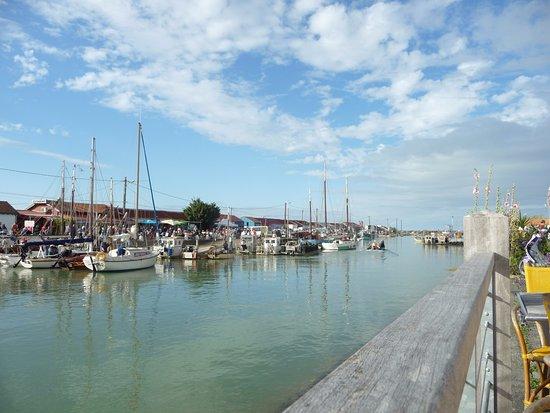 Saint-Trojan-les-Bains, Francia: Aux premières loges, face au port.