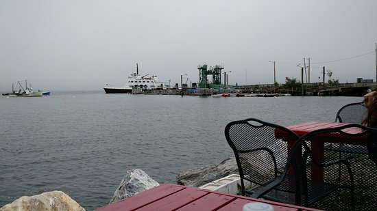 Lincolnville, ME: view of ferry