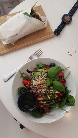 Wrap and salad