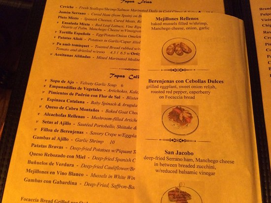 Somerville, MA: Dali menu