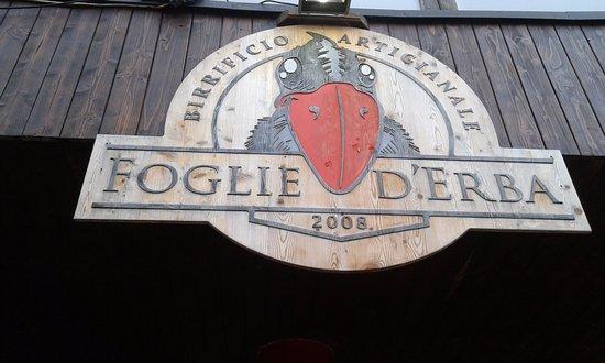 Birrificio Artigianale Foglie d'Erba: insegna