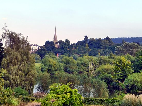 Ross-on-Wye, UK: View from the garden
